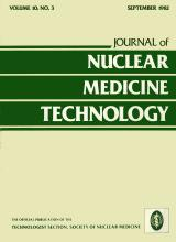 Journal of Nuclear Medicine Technology: 10 (3)
