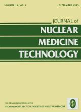 Journal of Nuclear Medicine Technology: 13 (3)