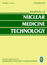 Journal of Nuclear Medicine Technology: 15 (3)