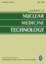Journal of Nuclear Medicine Technology: 16 (2)