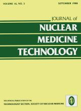 Journal of Nuclear Medicine Technology: 16 (3)