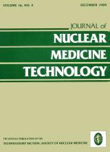 Journal of Nuclear Medicine Technology: 16 (4)