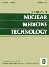 Journal of Nuclear Medicine Technology: 17 (1)