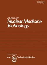Journal of Nuclear Medicine Technology: 2 (2)