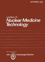Journal of Nuclear Medicine Technology: 3 (3)