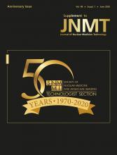 Journal of Nuclear Medicine Technology: 48 (Supplement 1)
