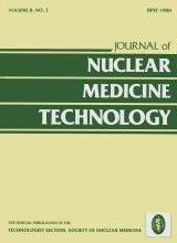 Journal of Nuclear Medicine Technology: 8 (2)
