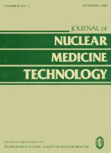 Journal of Nuclear Medicine Technology: 8 (3)