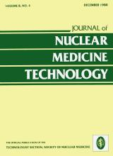 Journal of Nuclear Medicine Technology: 8 (4)